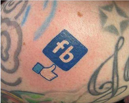 fb like tattoo