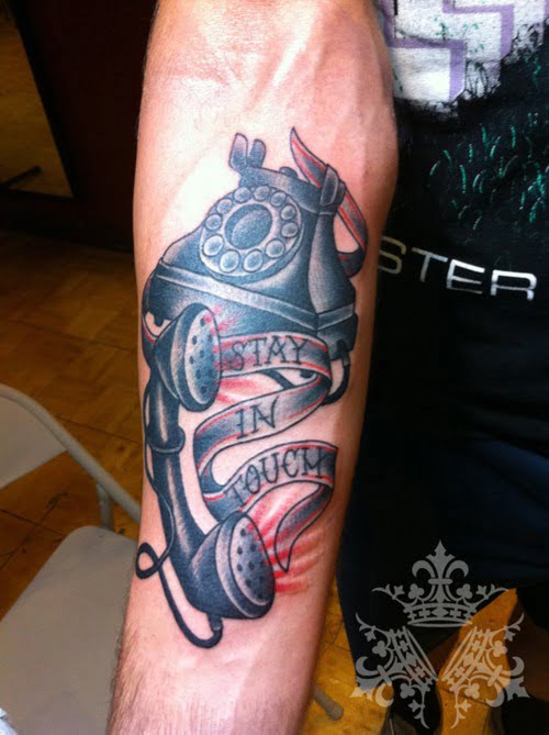 Stay in touch tattoo