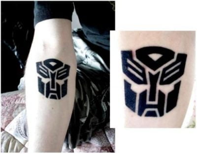 tatuaje de transformers tatuajesxd. Black Bedroom Furniture Sets. Home Design Ideas