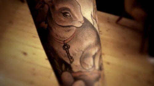 Tatuaje en la espalda Fauno