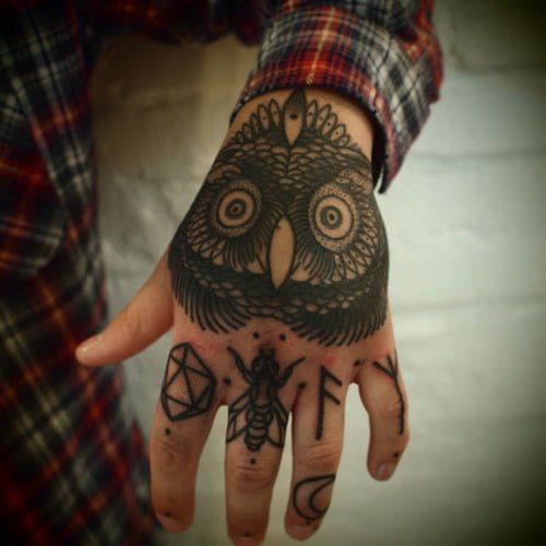 tatuaje de un buho