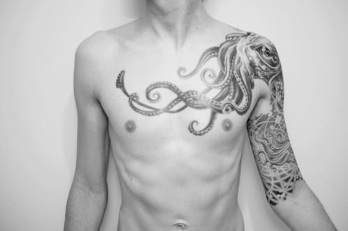 Tatuaje calamar