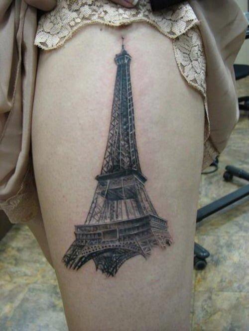 tatuaje torre eiffel