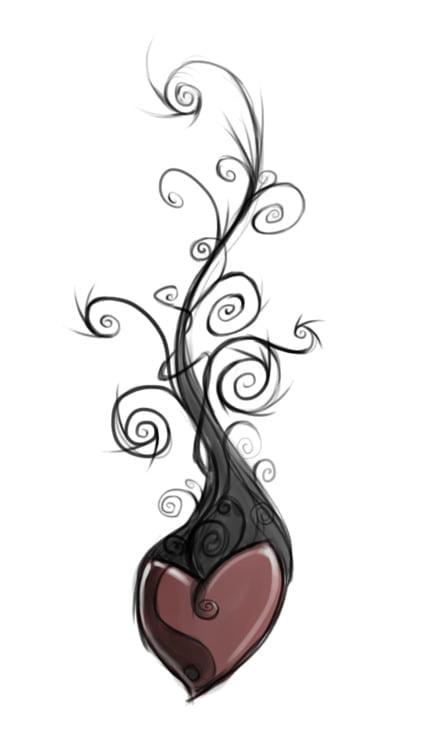 diseño tatuaje corazón