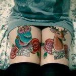 Tatuaje tarántula azul