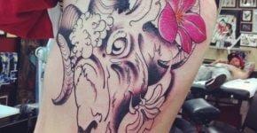 tatuaje cabra