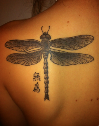 dragonfly and chinese letters tattoo tatuajesxd. Black Bedroom Furniture Sets. Home Design Ideas