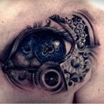 Tatuaje de musica en el brazo