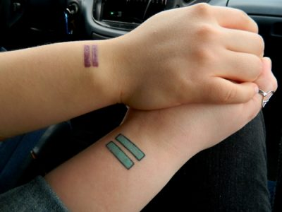 equals tattoos