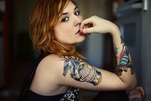 Girl with tattoos on arm Tatuajesxd
