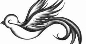diseño tatuaje pájaro