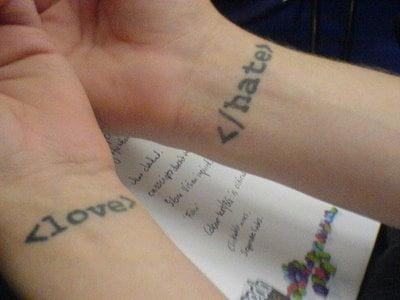 <love tattoo>
