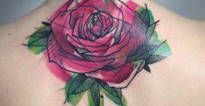 tatuaje rosa bosquejo