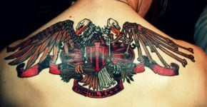 eagles tattoos on the back