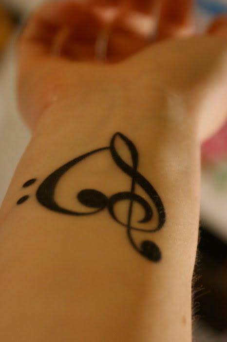 Musical Heart tattoo