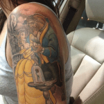Tatuaje de un zorro y un ave