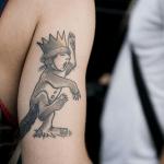 Tatuaje lobo en el pecho