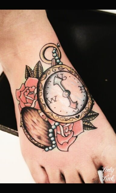 Tatuajes De Relojes De Bolsillo Para Mujeres Alianzas De Boda