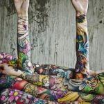 Tatuaje de ancla en los pies