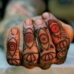 Fotografía de la primera sesión de un tatuaje de pulpo