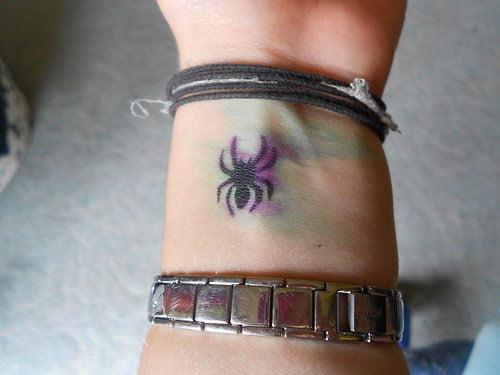 spider wrist tattoo
