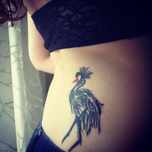 Tatuaje de grulla