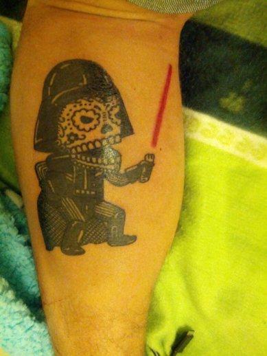 Tatuaje Darth Vader skull