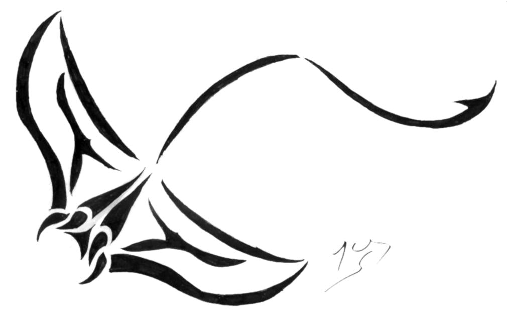 Diseño tatuaje Mantaraya