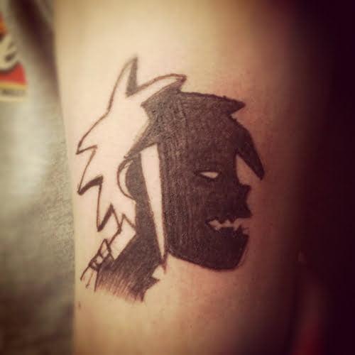 Tatuaje Gorillaz