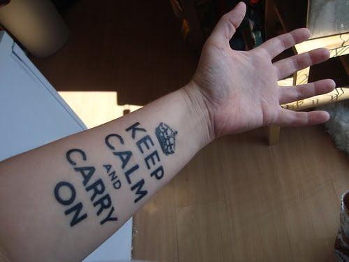 Keep calm tattoo