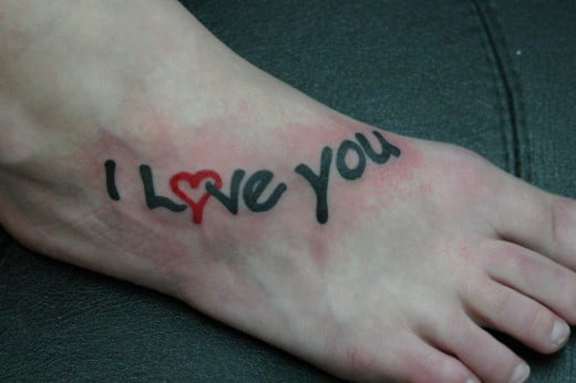 I love you tattoo
