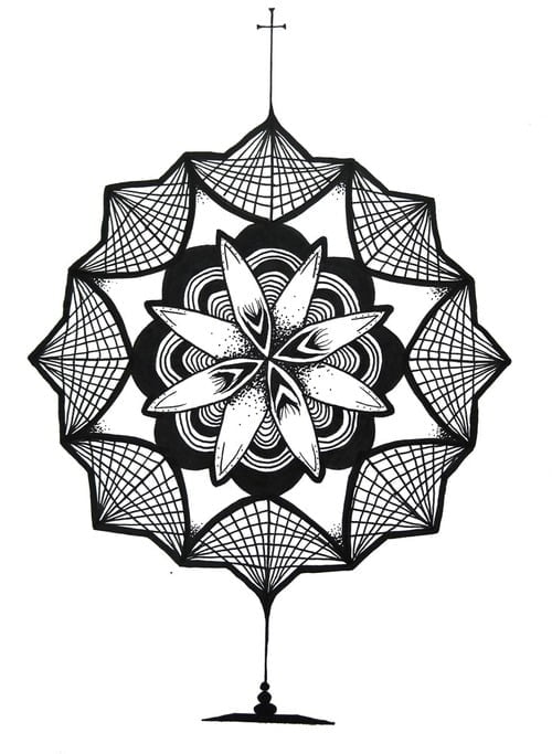 Dise o de mandala para tatuaje for Disenos de mandalas