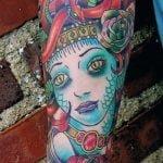 Tatuaje corazón clave de sol
