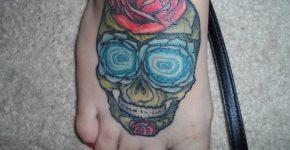 Rose skull tattoo