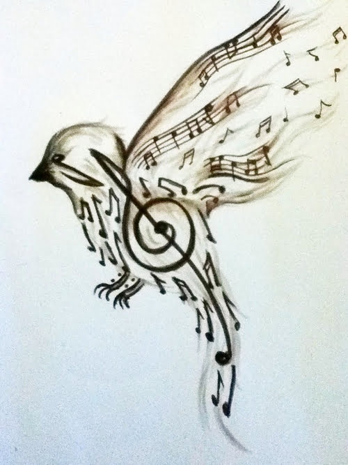 Bird tattoo design