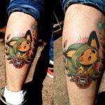 Tatuaje astronauta en llamas