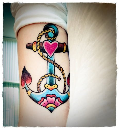 Anchor tattoo colors
