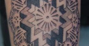 Tatuaje mandala matemáticas