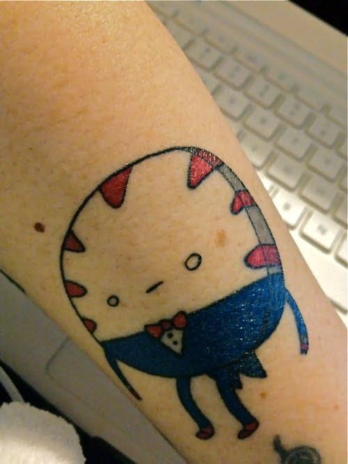 Tatuaje Peppermint Adventure Time