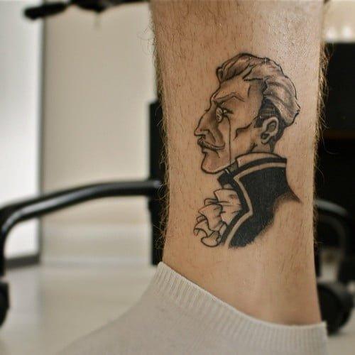 Tatuaje en la pierna hombres