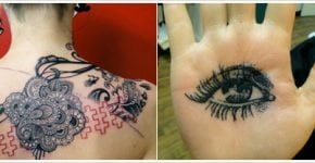 Fotos de dos tatuajes por Xoil