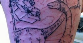 Tattoo Calvin y Hobbes Time Machine