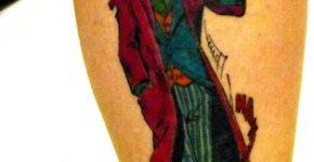 Old School joker tattoo