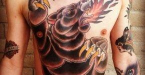 bear tattoo on chest