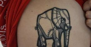 elephant tattoo unique