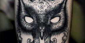 tatuaje búho real