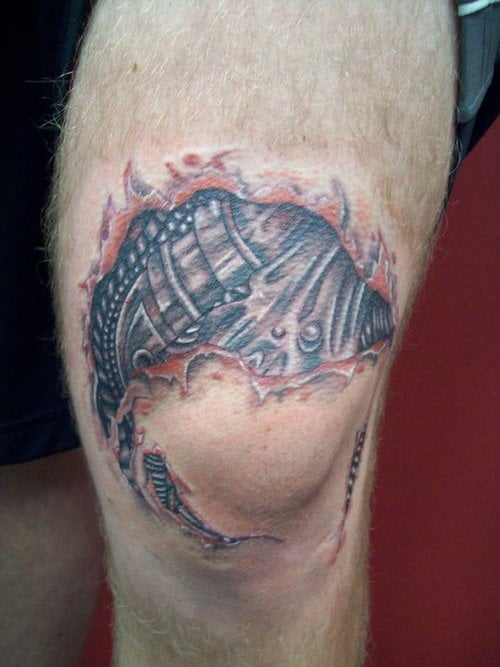 Tattoo rodilla robot