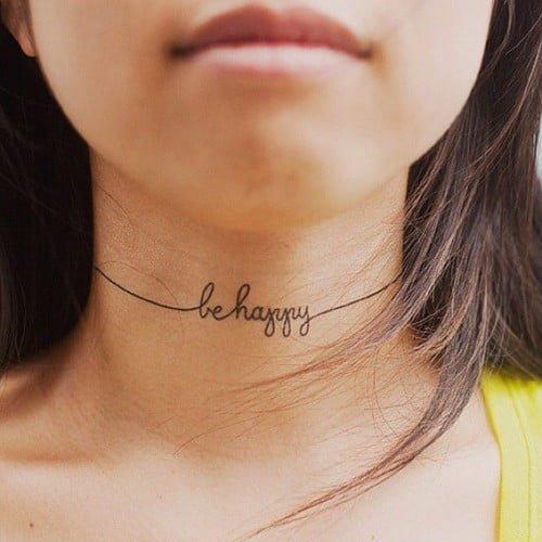 Neck tattoos girls