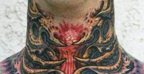 tatuajes en la garganta