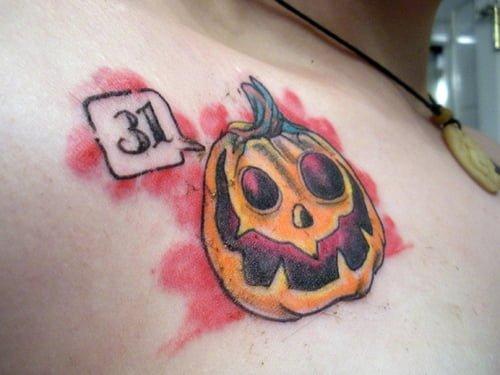 Tatuaje calavaza Halloween